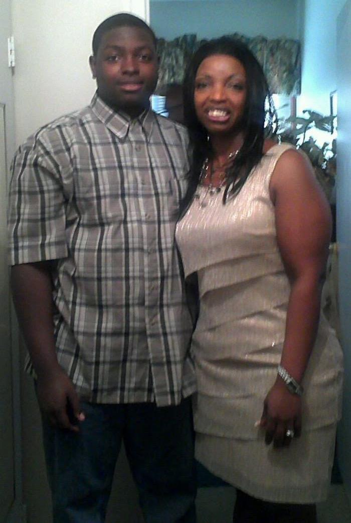 Brian-Michael Merrick with his mother, Ms. Upchurch